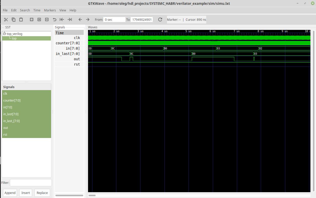 Использование верилятора как средства быстрого моделирования RTL проектов. Введение в UVM - 4