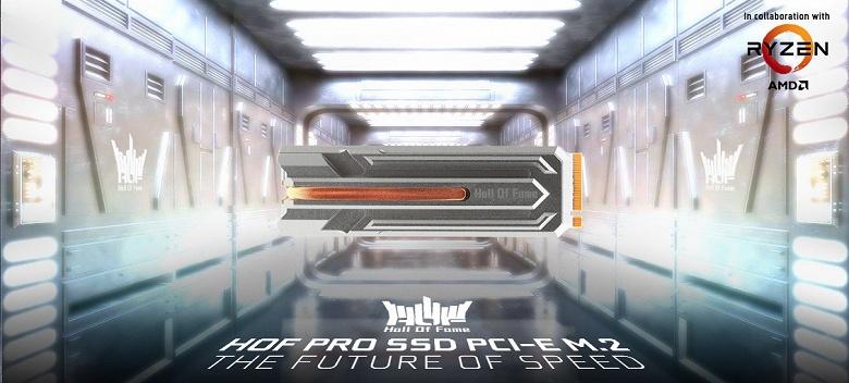 Твердотельный накопитель Galax HOF Pro типоразмера M.2 оснащен интерфейсом PCIe 4.0