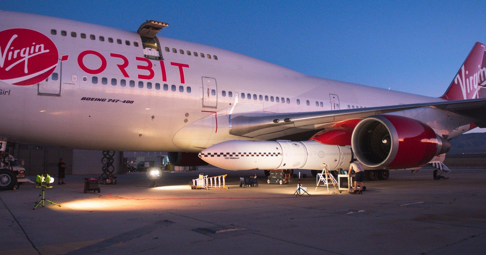 Virgin Orbit осуществила сброс ракеты с «Боинга»