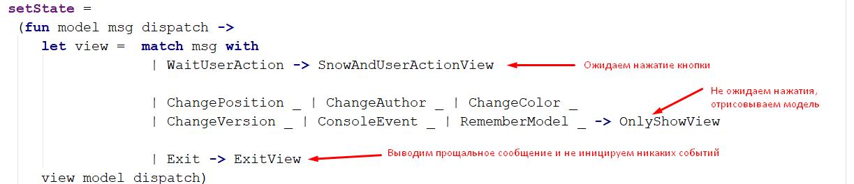 Пример Model-View-Update архитектуры на F# - 2