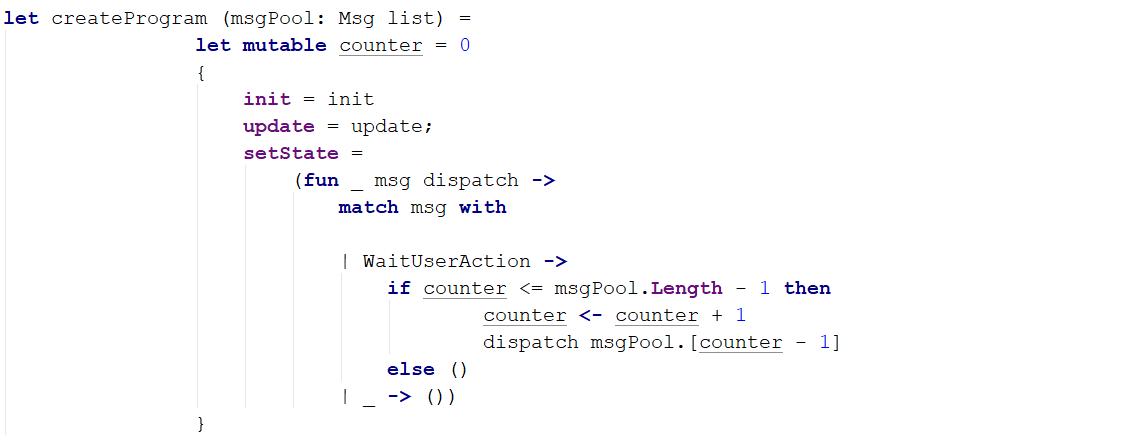 Пример Model-View-Update архитектуры на F# - 3