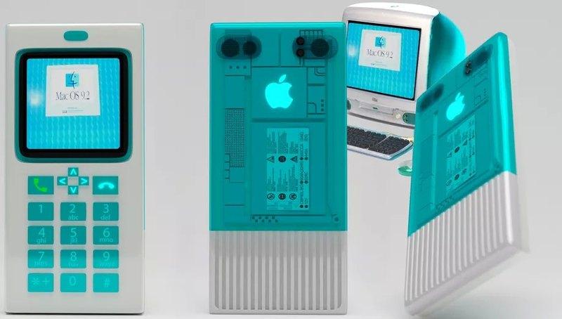 Дизайнер представил, как мог бы выглядеть iPhone в дизайне старых Macintosh