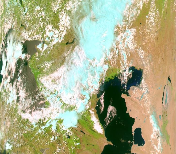Фото дня: первый снимок с ДЗЗ-спутника «Метеор-М» №2-2