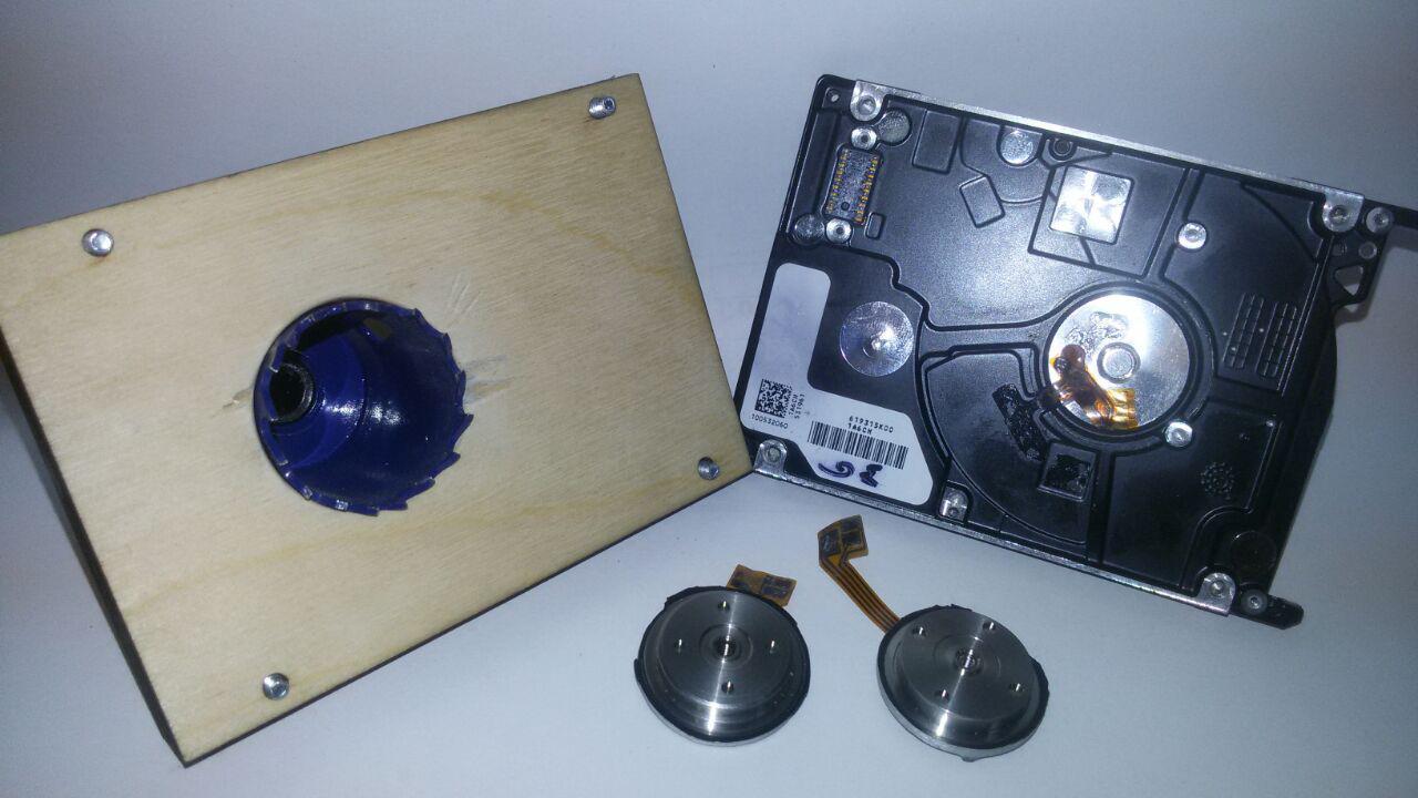 Поделки из нерабочих HDD — мини-помпа - 1