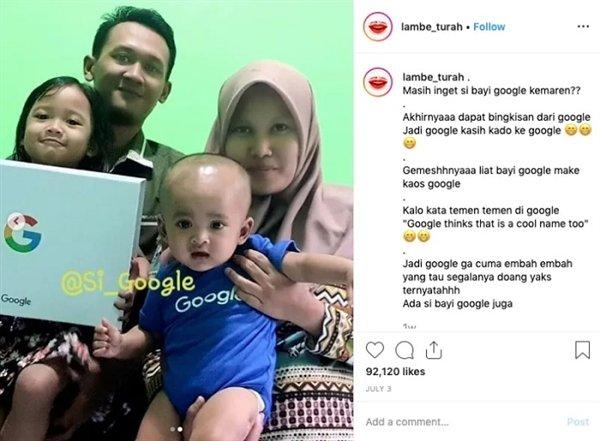 Индонезийская семья назвала ребенка Google
