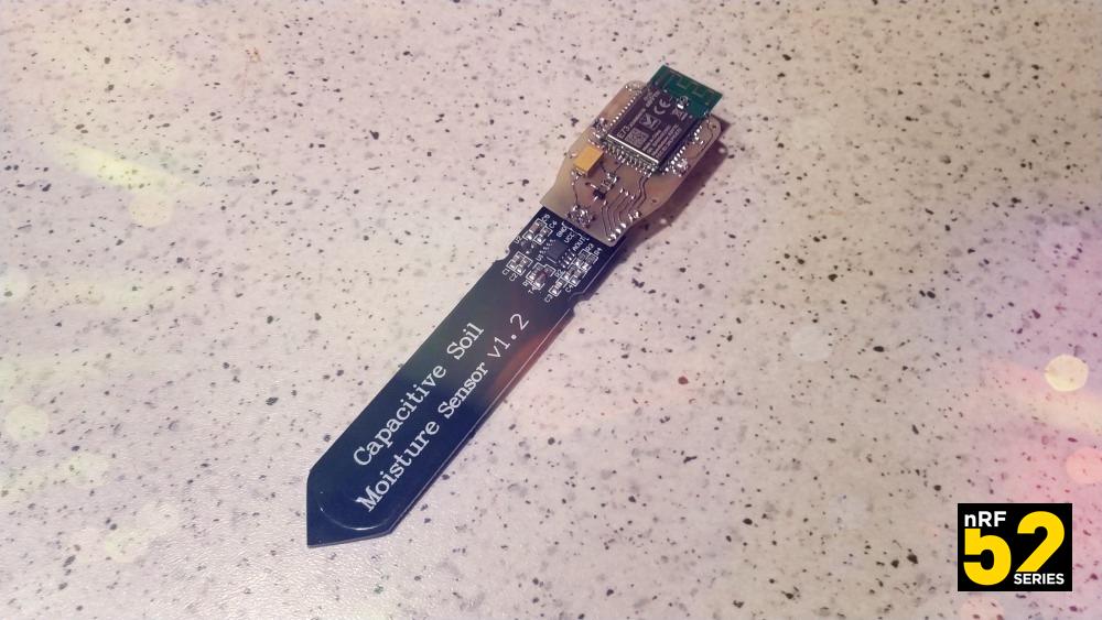 Беспроводной модуль для ёмкостного датчика влажности почвы на nRF52832 - 1