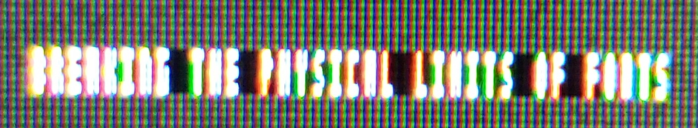 Минимальный возможный шрифт - 10