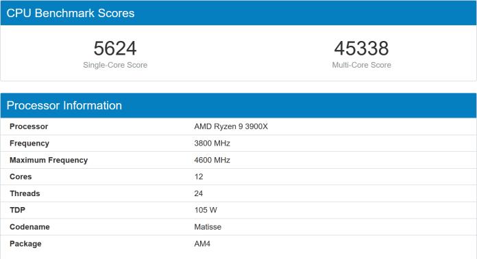 Мобильный четырехъядерный процессор Intel Core i7-1065G7 (Ice Lake) обошел в однопоточном тесте настольный 12-ядерный AMD Ryzen 9 3900X