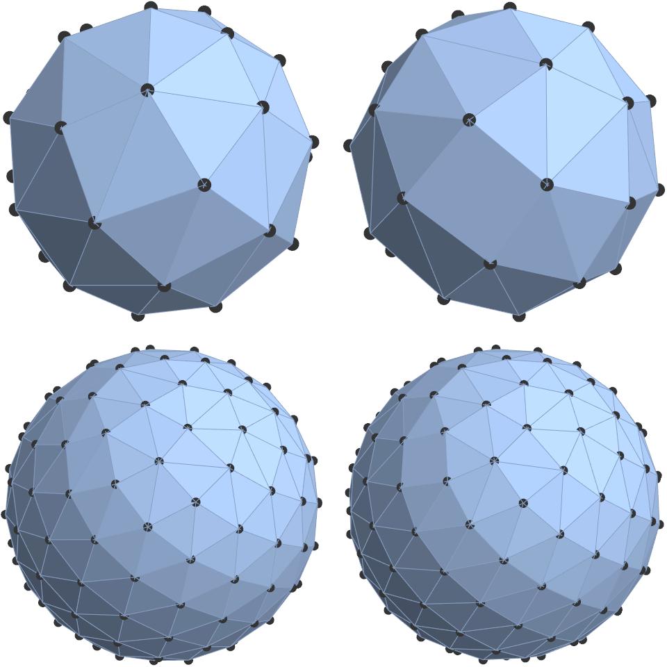 Равномерное распределение точек на сфере - 115