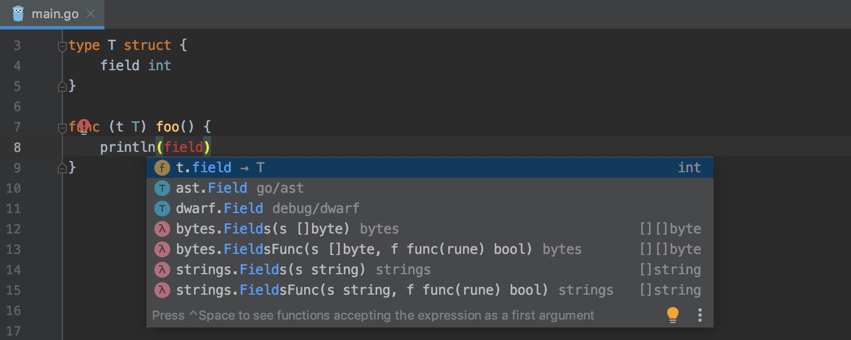 GoLand 2019.2: поддержка вызовов функций во время отладки, улучшенные цветовые схемы, кастомные Postfix Completion - 12