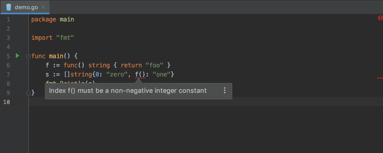 GoLand 2019.2: поддержка вызовов функций во время отладки, улучшенные цветовые схемы, кастомные Postfix Completion - 15
