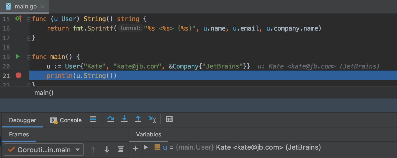 GoLand 2019.2: поддержка вызовов функций во время отладки, улучшенные цветовые схемы, кастомные Postfix Completion - 4