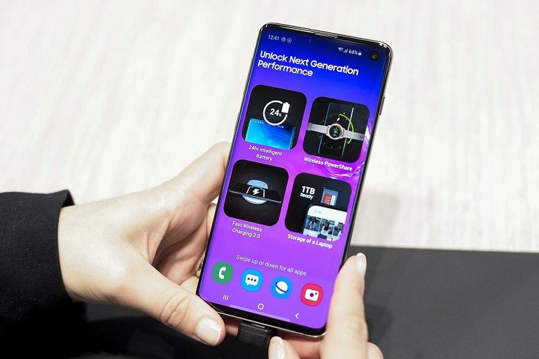Новая прошивка для Samsung Galaxy S10 улучшает камеру и Bluetooth