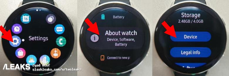 Живые фото умных часов Samsung Galaxy Watch Active 2