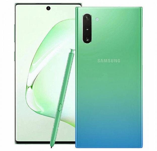 Samsung Galaxy Note10 предстал на официальных изображениях в двух новых цветах