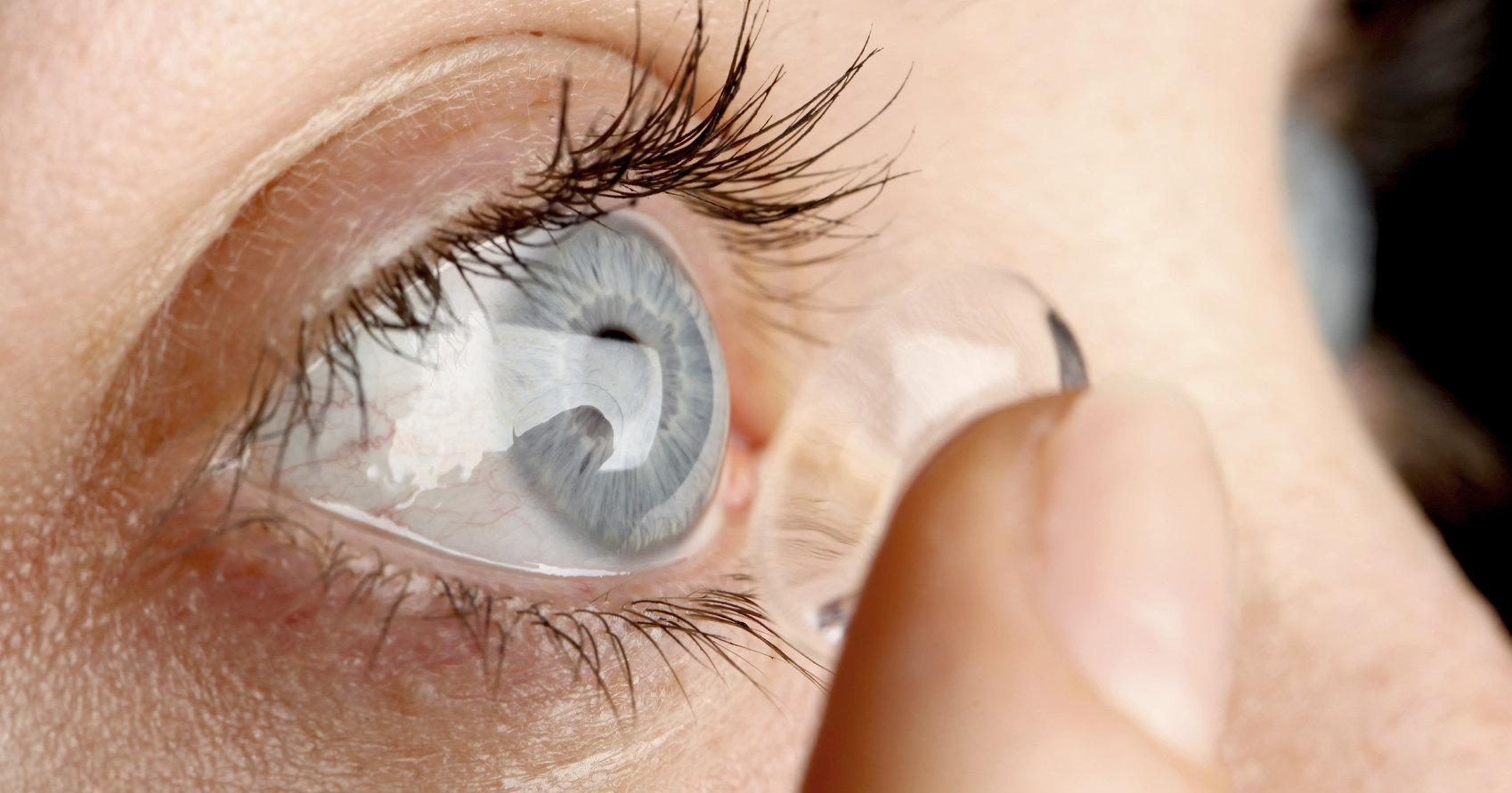 Разработаны контактные линзы с управляемым фокусным расстоянием