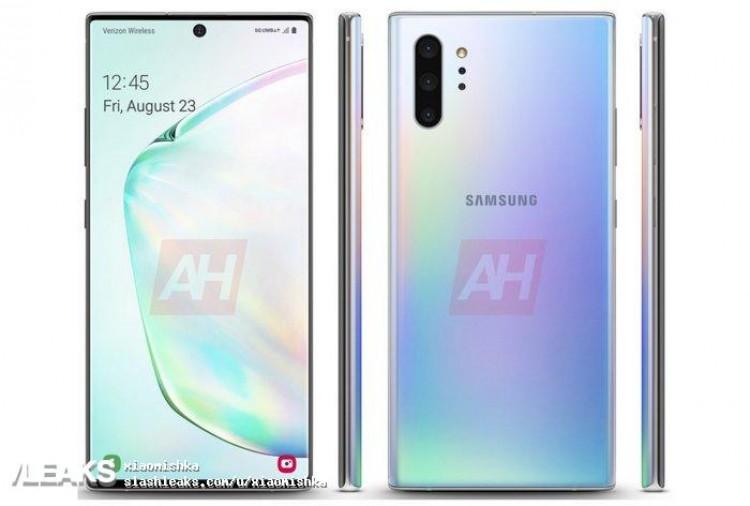 Официальный рендер Samsung Galaxy Note10+ 5G