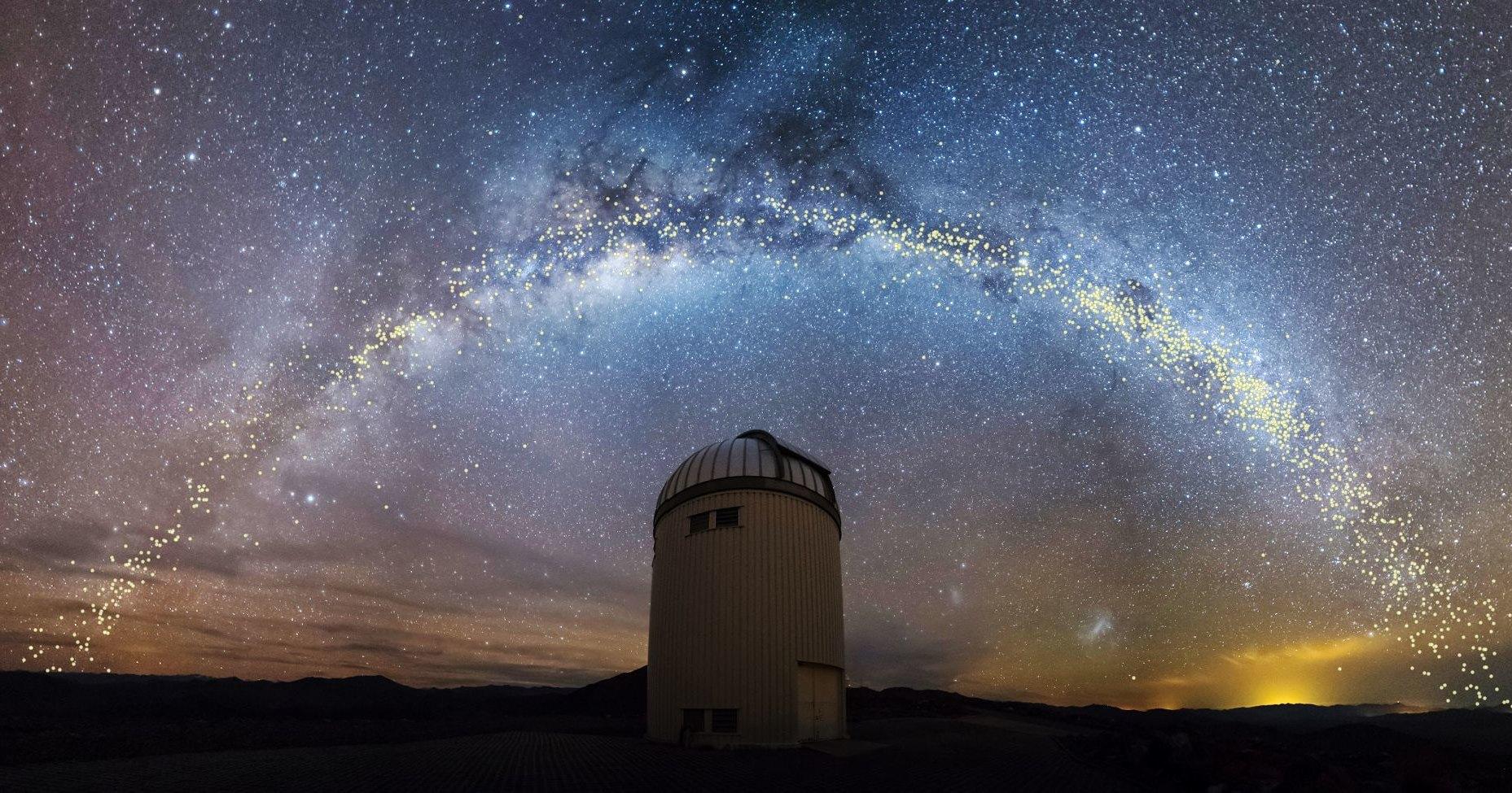 220 000 000 лет образования звезд на одной карте
