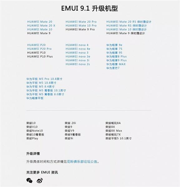 Huawei отчиталась о распространении EMUI 9.1, первые претенденты на свежую прошивку — Huawei P10, P10 Plus, Mate 9, Mate 9 Pro и Mate 9 Porsche Design