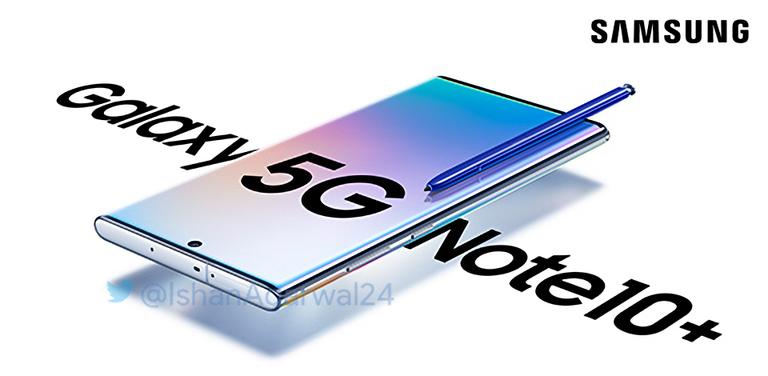 Фото дня: официальный постер для планшетофона Samsung Galaxy Note10+ 5G