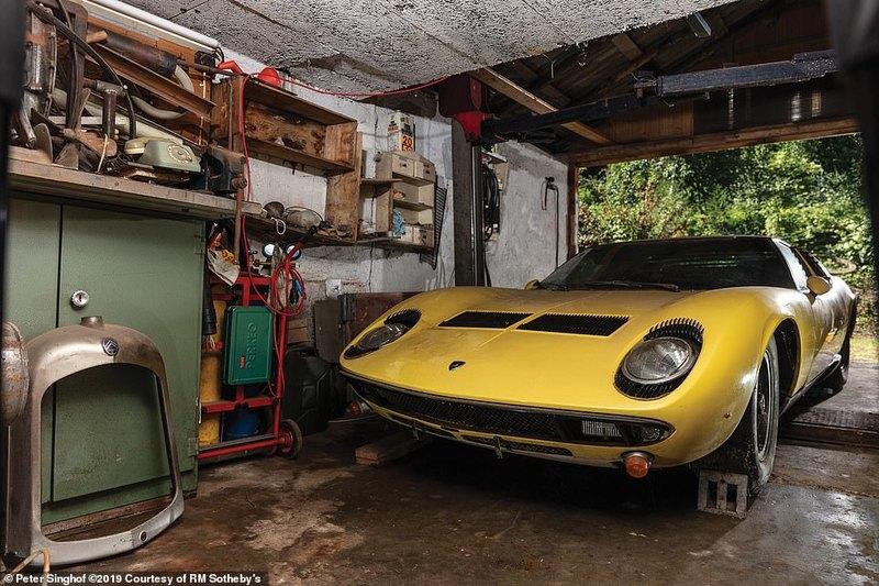 Редкий Lamborghini 1969 года в хорошем состоянии пустят с молотка