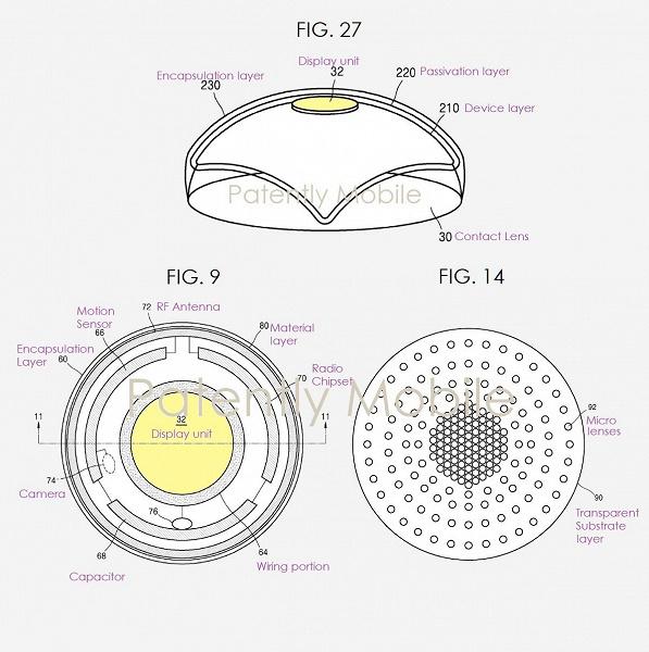 Samsung выдан патент на контактные линзы дополненной реальности