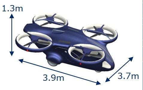 Компания NEC показала «летающий автомобиль»