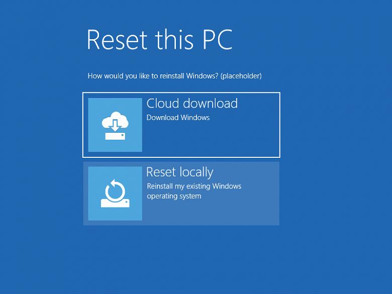 Windows 10 может получить функцию восстановления из облака