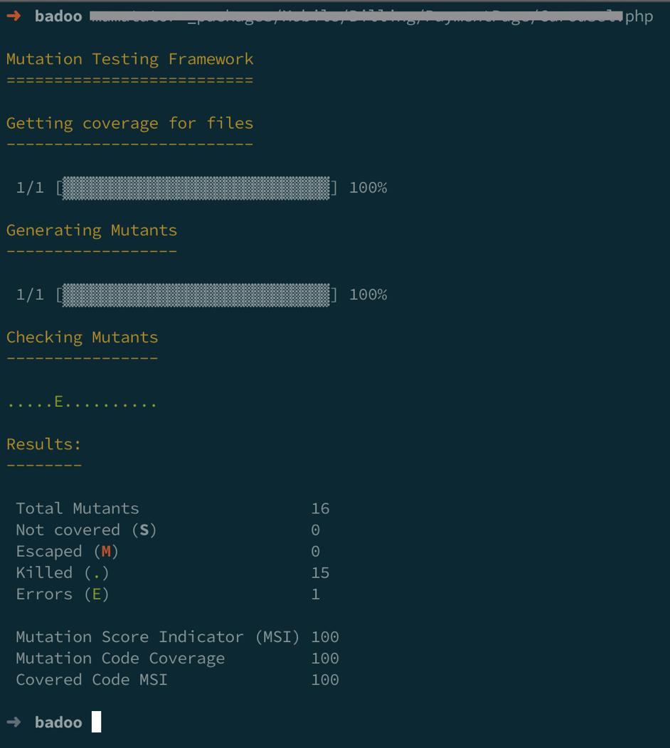 Мутационное тестирование в PHP: качественное измерение для code coverage - 8