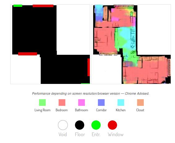 Нейросеть по контурам квартиры делит ее на зоны, рисует стены и расставляет мебель - 10