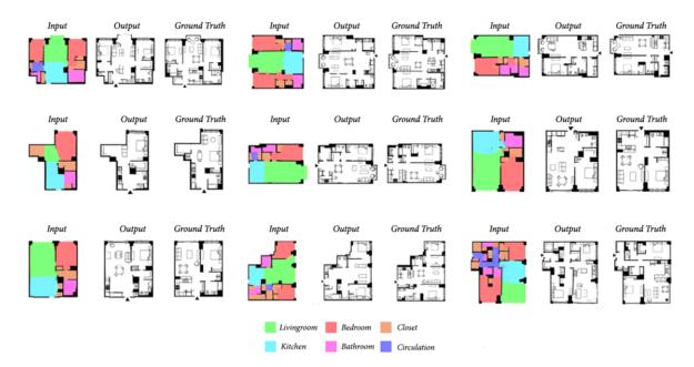 Нейросеть по контурам квартиры делит ее на зоны, рисует стены и расставляет мебель - 5