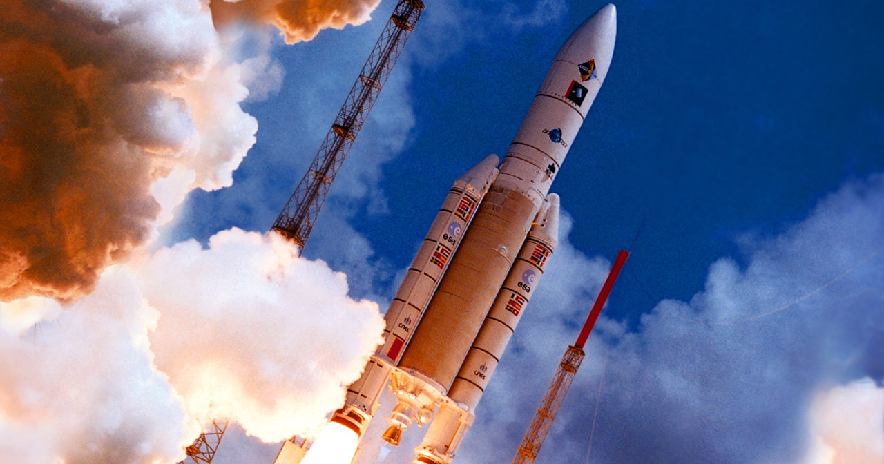 Трансляция: запуск ракеты-носителя Ariane 5 с двумя спутниками связи