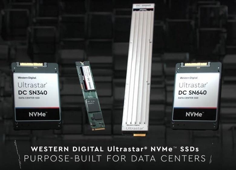 Твердотельные накопители Western Digital Ultrastar DC SN640 и SN340 с поддержкой NVMe предназначены для центров обработки данных