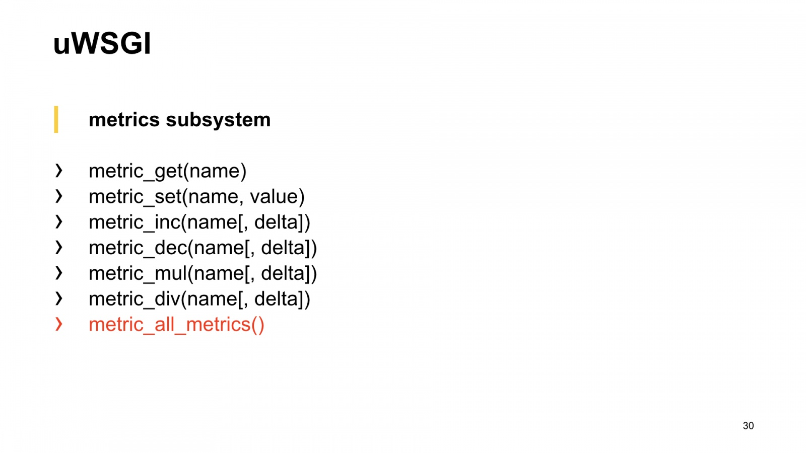 uWSGI в помощь метрикам. Доклад Яндекса - 22