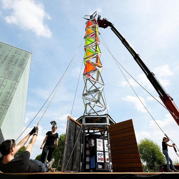 В Эйндховене создан раскладной «зеленый» генератор для фестивалей