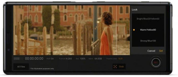 Флагманский смартфон Sony Xperia 2 получит новую функцию камеры S-Cinetone