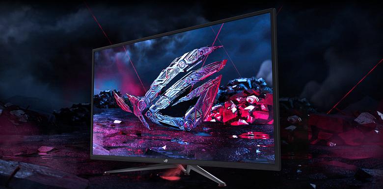 Стала известна цена огромного игрового монитора Asus ROG Strix XG438Q