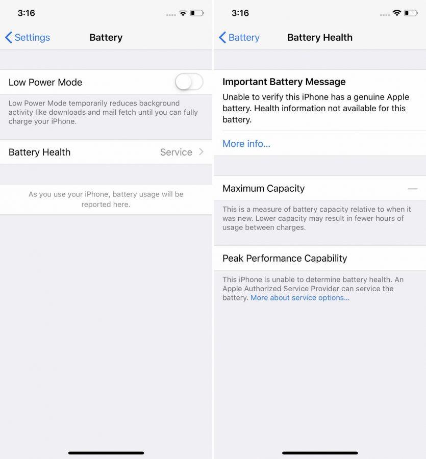 Apple начала предупреждать пользователей о неисправности батареи, если ее заменили не в официальном сервисе - 2