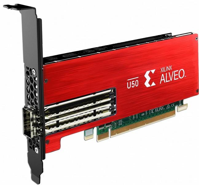 Xilinx называет карту расширения Alveo U50 первым адаптируемым ускорителем «для любого сервера и любого облака»