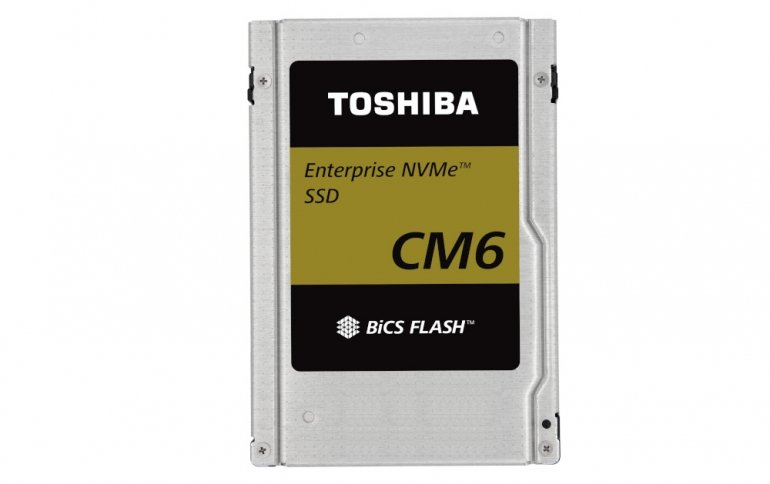 Твердотельные накопители Toshiba CM6 развивают скорость чтения 6,4 ГБ/с