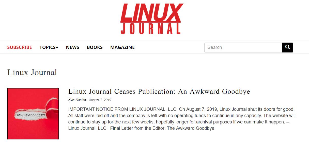 Linux Journal закрывается после почти 30 лет работы — на этот раз окончательно - 1