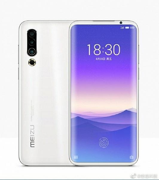 Экран без вырезов и тройная камера: опубликован рендер флагманского смартфона Meizu 16s Pro