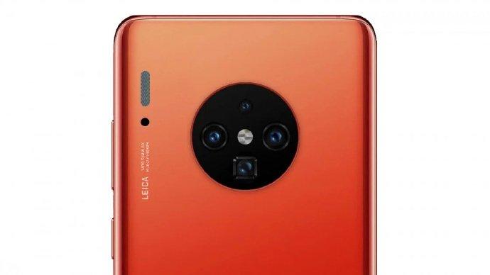 Huawei Mate 30 Pro в красном цвете позирует на рендерах