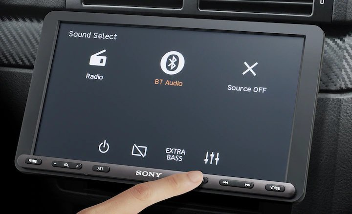 Sony представила магнитолу с 9-дюймовым экраном для старых автомобилей