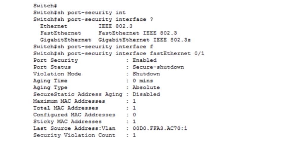 Тренинг Cisco 200-125 CCNA v3.0. День 15. Медленная связь и функция Port Security - 22