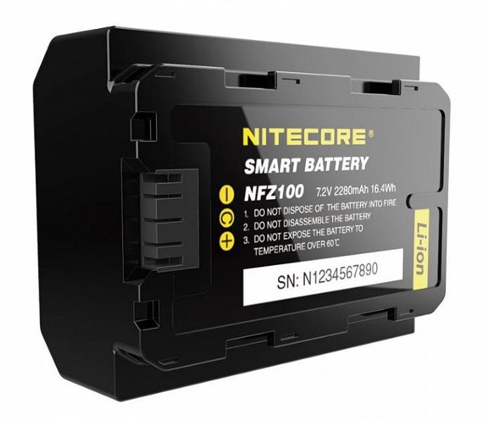 «Умный» аккумулятор Nitecore NFZ100 предназначен для камер Sony a7 III, a7R III и a9 (ILCE-9)