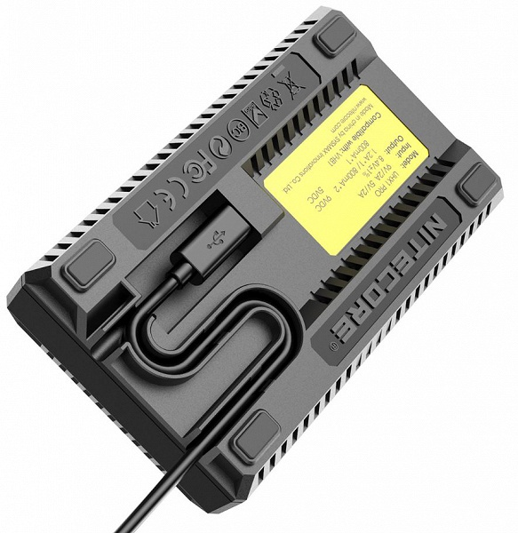 Зарядное устройство Nitecore UHX1 Pro позволяет заряжать сразу два аккумулятора для камер Hasselblad