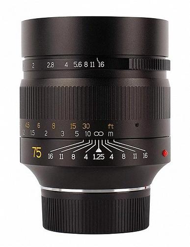 Начались продажи объектива 7Artisans 75mm f/1.25