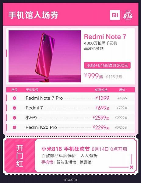 55-дюймовый 4K-телевизор Xiaomi за $255, стиральная машина Redmi 1A за $99, смартфон Redmi 7 за $99 и другие праздничные предложения Xiaomi и Redmi