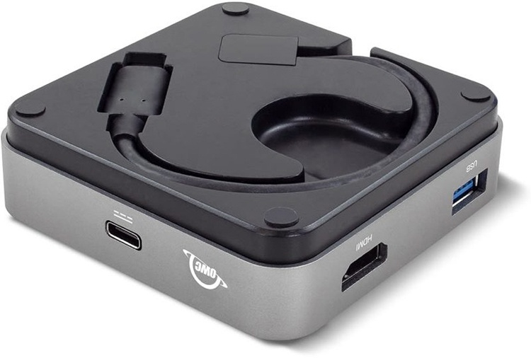 Концентратор OWC USB-C Travel Dock обеспечивает передачу до 100 Вт мощности